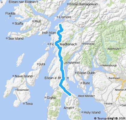 LEJOG Day 12 - Lochranza to Oban