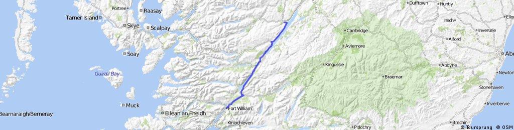 LEJOG Day 14 - Fort William to Drumnadrochit