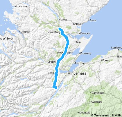LEJOG Day 15 - Drumnadrochit to Invershin