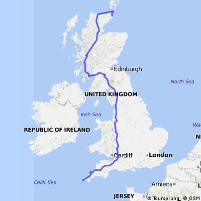 NP LEJOG 2016 - Complete route