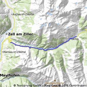 Radrunde von Hainzenberg nach Gerlos