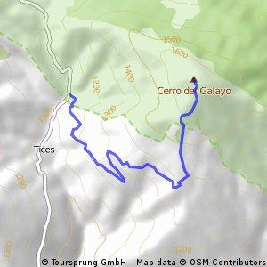 Subida al Pico Galayo desde Tices