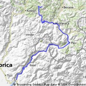Czarnogóra - Albania - III pętla
