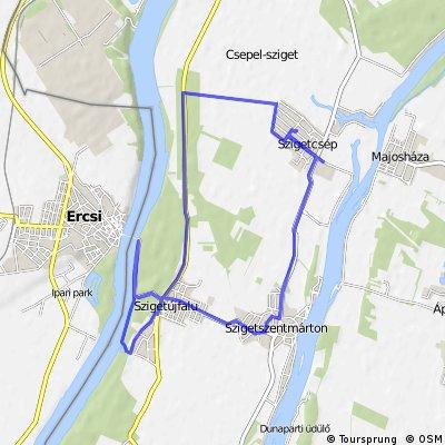 bike tour through Szigetcsép