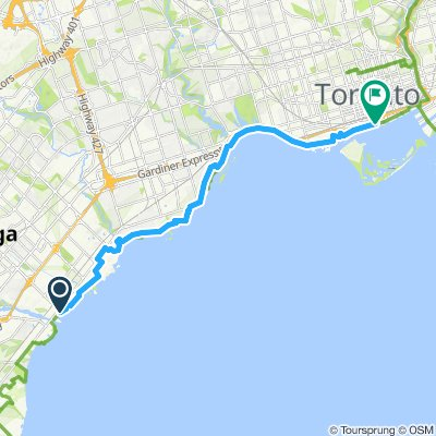 ride from Mississauga to Toronto
