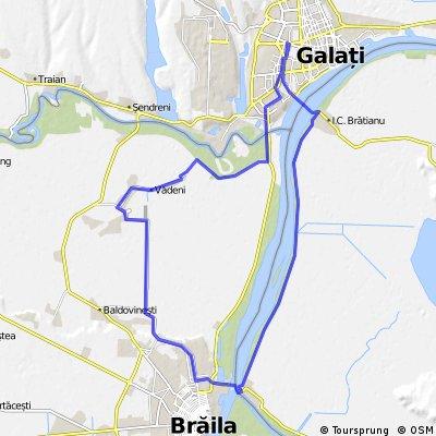 Galati - Vadeni - Smardan(Br) - Bratianu - Galati