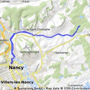 Long bike tour through Nancy