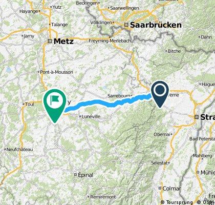 Saverne - Nancy km 415,46 - 516,58