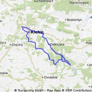 Kielce - Drogowole - Daleszyce