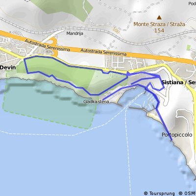 Run Sistiana beach Olimpic training