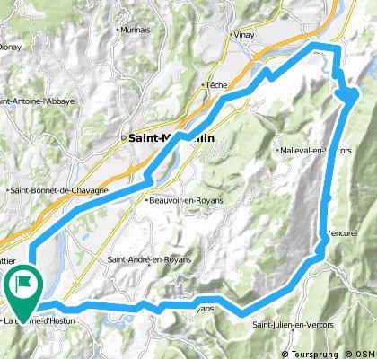 Vercors_1: Rundtour ab Saint-Hilaire, über Route des Ecouges