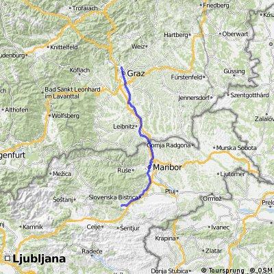 Graz - Izola Tag 1 Graz - Slovenske Konjice