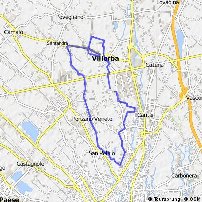 Ride through Villorba (Treviso)