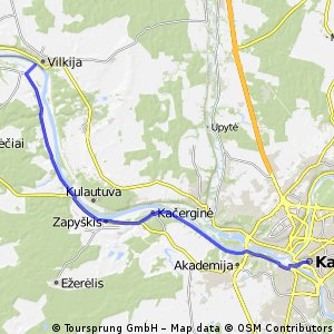 Cycling Routes And Bike Maps In And Around Kaunas Bikemap Your - Kaunas map