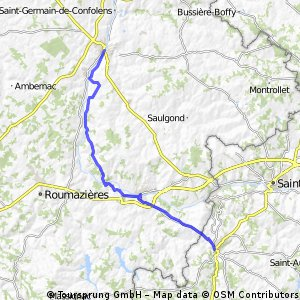 Confolens to Rochechouart