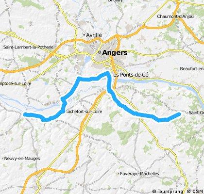 Challones sur Loire to St Georges des Sept Voies