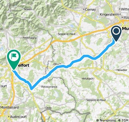 Aadorf - Paris 3. Tag  Mulhouse- Belfort