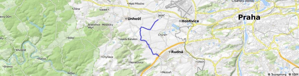 KPO - tréninková tour: Rudná - Jeneč