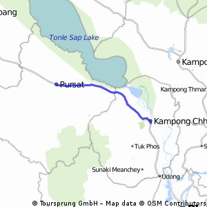Long bike tour from Kampong Chhnang to Pursat
