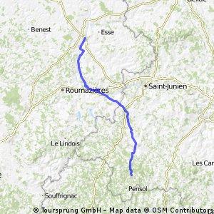 Confolens to La Chapelle-Montbrandeix