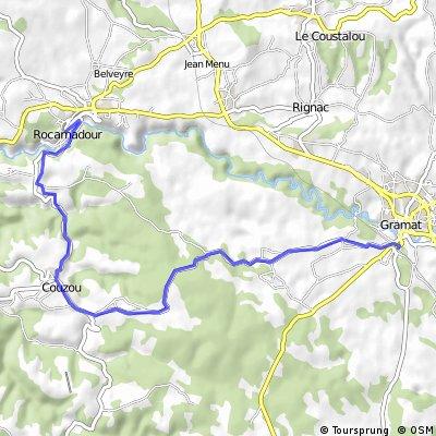 Rocamadour to Gramat Station