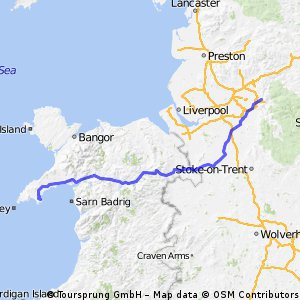 Birthday route - Home to Abersoch