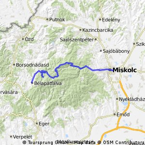 Cycling routes and bike maps in and around Miskolc Bikemap Your