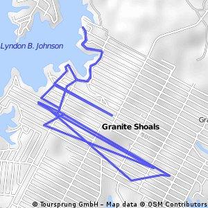 Brief bike tour through Granite Shoals