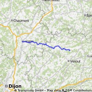 Aadorf - Paris 5. Tag  Chaumont - Langre