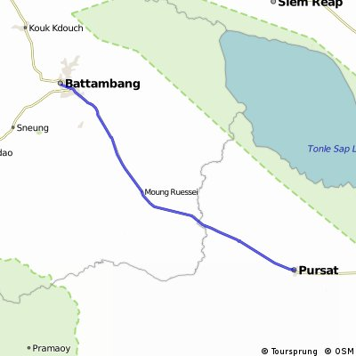 Long ride from Pursat to Battambang