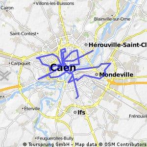 Caen relief