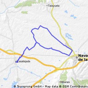 Long bike tour through Casatejada