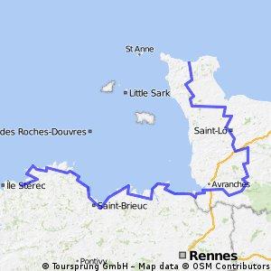 Cherbourg_Plestin_parcours