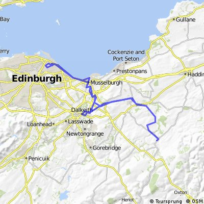 Humbie to Edinburgh via west saulton Railway