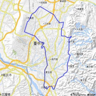 Lengthy ride through 台中市