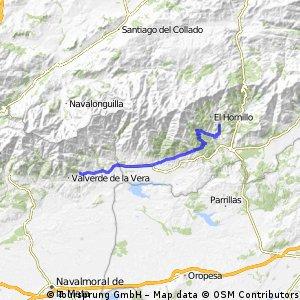 6 VILLANUEVA DE LA VERA - ARENAS DE SAN PEDRO  55km