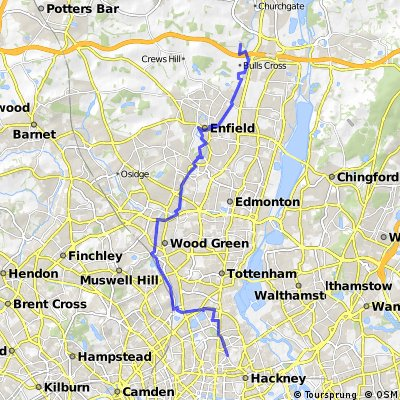 New River Route, Herts to Hackney