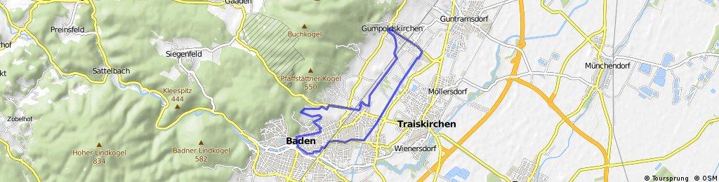 Durch die Weinberger von Baden nach Gumpoldskirchen und am Wr. Neustädter Kanal zurück