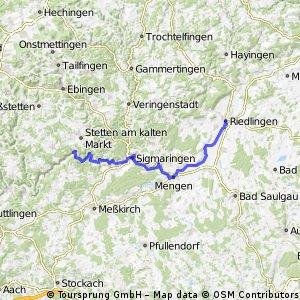 DonauRadweg 1 : Hausen im Tal nach Riedlingen