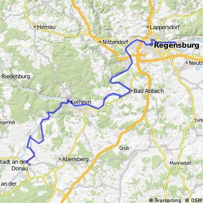 DonauRadweg 1 : Neustadt an der Donau nach Tegernheim