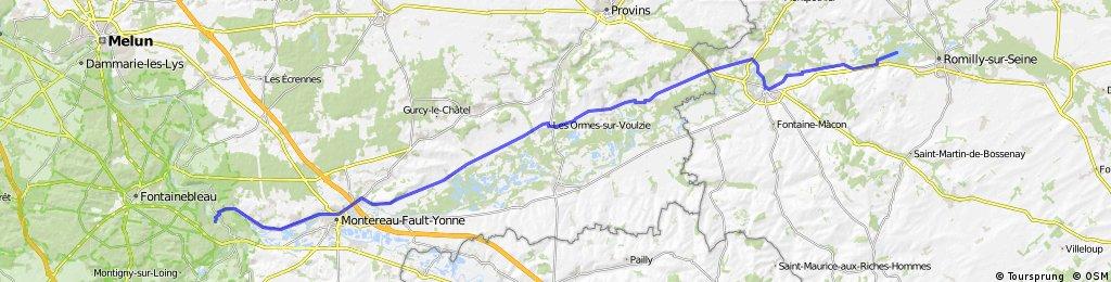 Aadorf - Paris 9. Tag  Saint-Hilaire-sous-Romilly - Veneux-les-Sablons