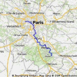 Aadorf - Paris 10. Tag  Veneux-les-Sablons - PARIS