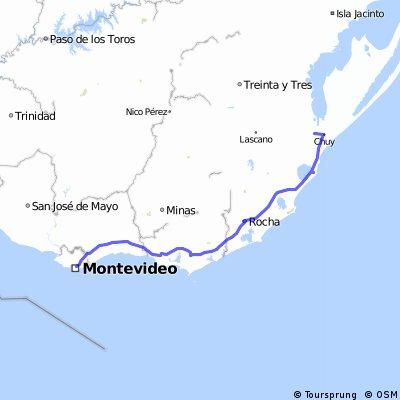 Montevideo - 18  de Julio (Rutas del Sol)