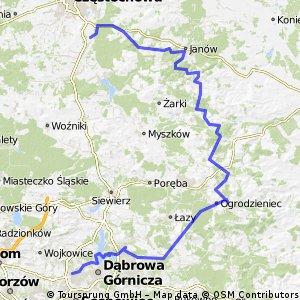 Korwinów - Olsztyn - Mirów - Bobolice - Ogrodzieniec - Będzin
