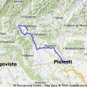 Lengthy bike tour from Ploieşti to Breaza