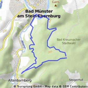 Wanderroute Altenbaumburg-Bad Münster 9,44 KM