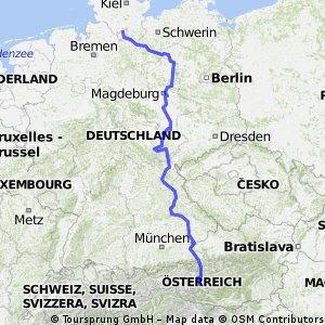 Radtour von Hamburg nach Bischofshofen