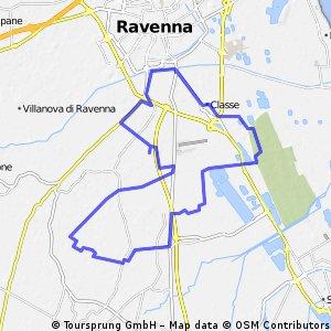 Percorso nei dintorni di Ravenna