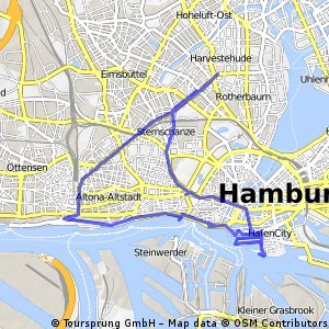 bike tour through Hamburg