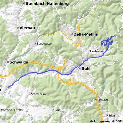 Dillstädt-Wetterstation Rennsteig-Geraberg-Schneekopf-Dillstädt (Teil 1)